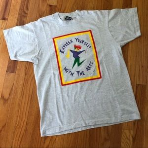Vintage Express Yourself With The Arts Tee Size L